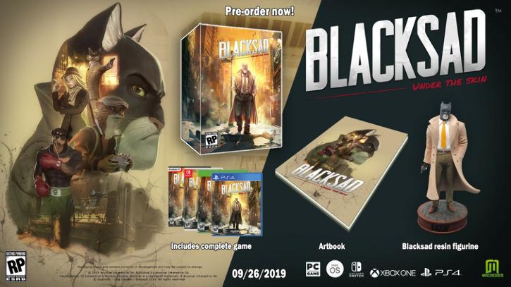 Сюжетный трейлер детективных приключений Blacksad: Under the Skin. Релиз 26 сентября