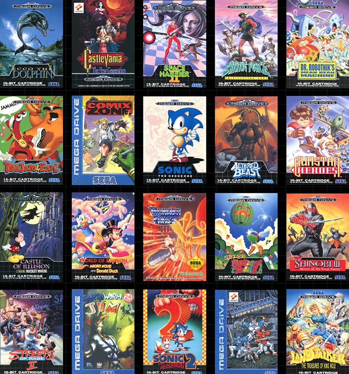 SEGA раскрыла ещё 10 предустановленных игр для Genesis Mini / Mega Drive Mini