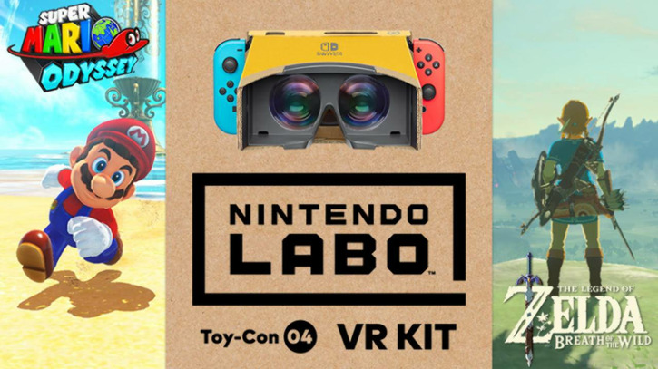 Super Mario Odyssey и The Legend of Zelda: Breath of the Wild получат поддержку Nintendo Labo VR